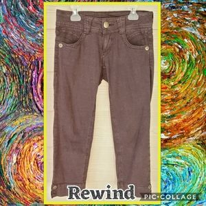 Rewind Low-rise Purple Acid Wash Jean Capris